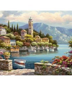 Beautiful Village Landscape - Van-Go Paint-By-Number Kit
