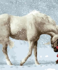 White Horse and the Little Red Boy VAN-GO PAINT-BY-NUMBER KIT
